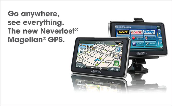 Go anywhere, see everything.The new Neverlost Magellan GPS